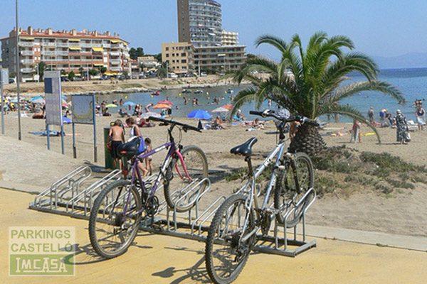 aparca bicis playa