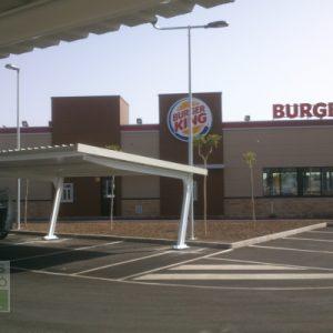 Marquesina IMCASA aparcamiento Burger King Murcia