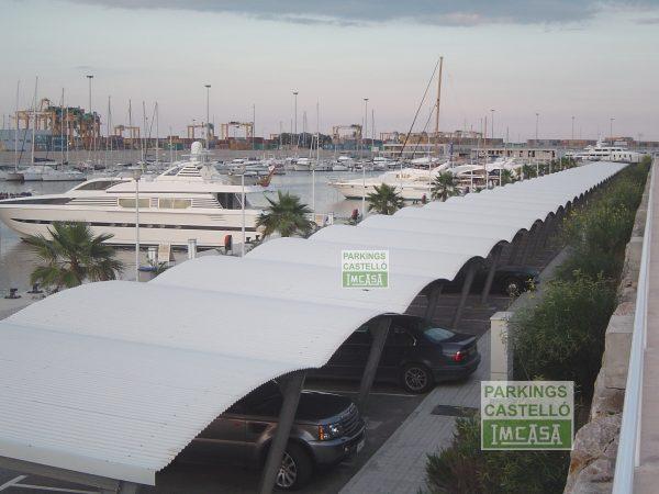 Pérgola Parking Bóveda coches club náutico Valencia