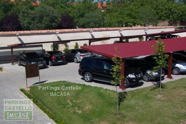 Marquesina metálica cubierta imitación teja hotel Segovia