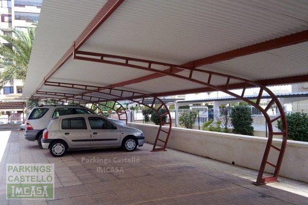 Marquesina parking curva celosía Calpe Alicante