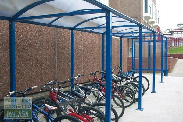 marquesina bóveda bicicletas