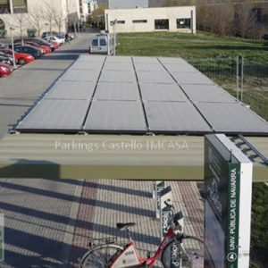 parking solar Pamplona bicis