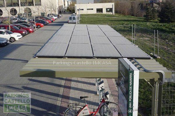 parking solar Pamplona bicis