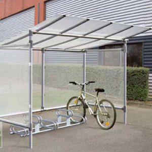 marquesina aparca bicicletas basico