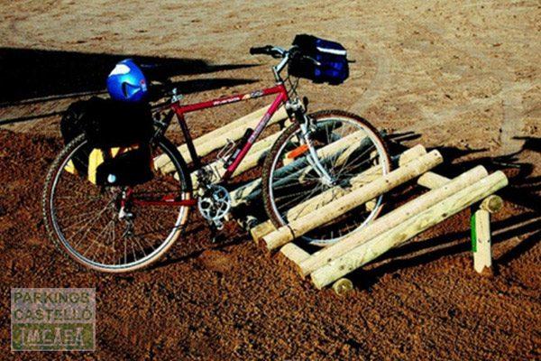 aparca bicis madera