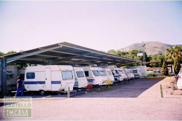 marquesina galvanizada cubierta caravanas Castellón