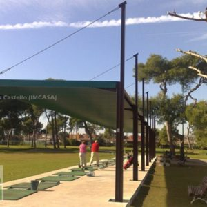 Marquesina campo de golf Grao de Castellón