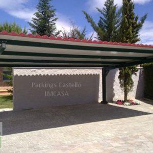 Marquesina imitación teja panel sándwich Valladolid