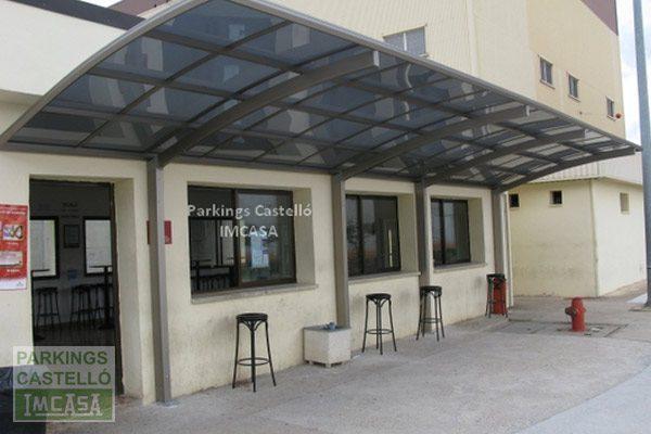 Marquesina Cubierta Terraza Cafetería Bar Parkings Castelló