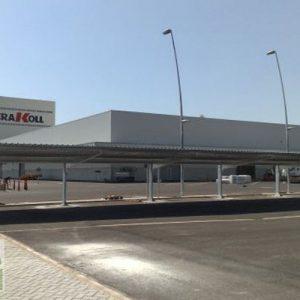 Cubiertas aparcamientos Kerakoll Castellón