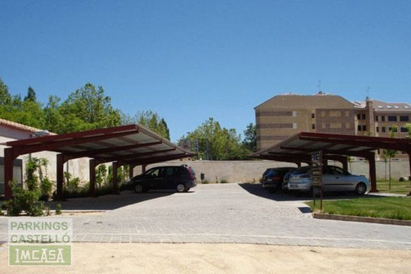 Marquesina parking hotel Segovia