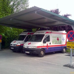 Marquesina cubierta ambulancias
