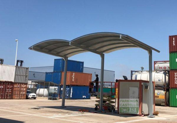 Pérgola entrada-salida camiones Valencia bóveda