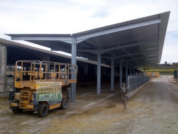 Cubierta metálica chapa para vacas granja animales