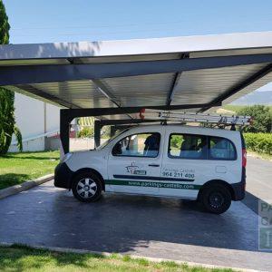 Marquesina para coches VIGA-CAJON Bodega La Rioja