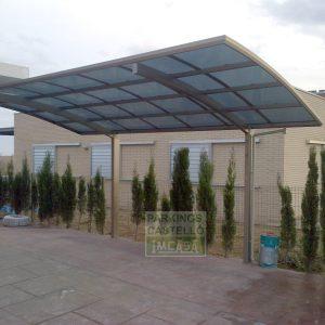 Pérgola Parking Skiatsu cubierta aluminio policarbonato Tarragona
