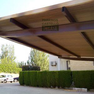 Marquesina teja envejecida Benicarló Castellón