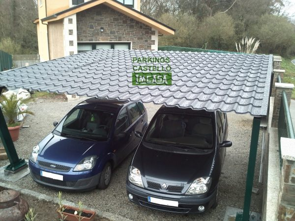 Pergola chapa teja plana A Coruña