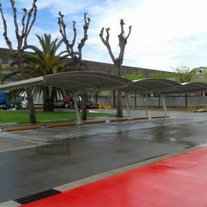 Marquesina Bóveda aparcamiento SEAT Barcelona