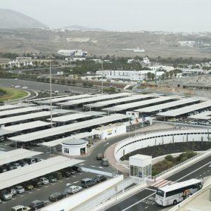Marquesinas parking aeropuerto Lanzarote