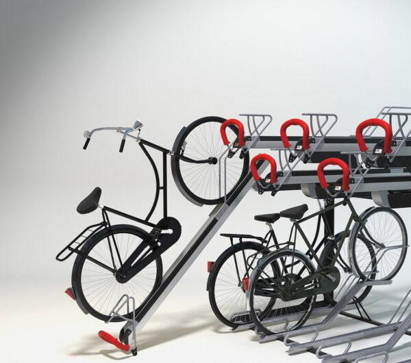 aparca bicis doble altura