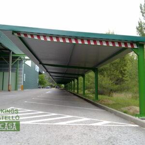 Marquesina parking empresa Barcelona