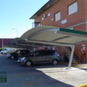 Marquesina parking bóveda Madrid